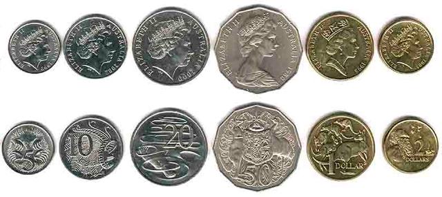 Monedas Del Dólar Australiano