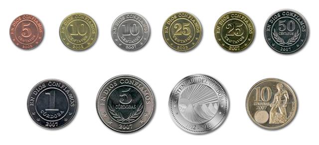 Monedas Del Córdoba De Nicaragua