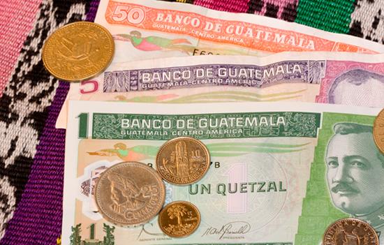 Monedas Y Billetes Del Quetzal De Guatemala
