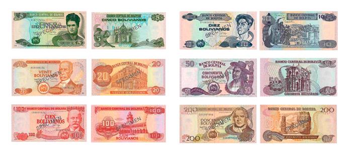 Imagen De Los Billetes Del Boliviano