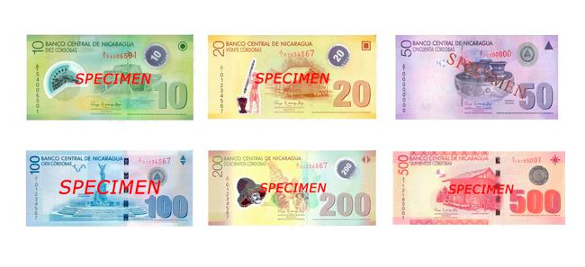 Billetes Del Córdoba Nicaragüense