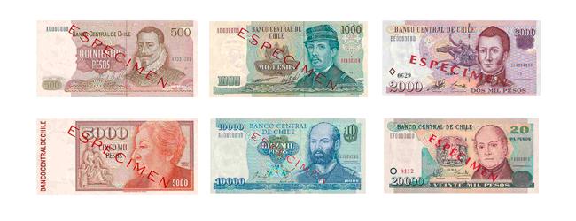 Billetes Del Peso Chileno