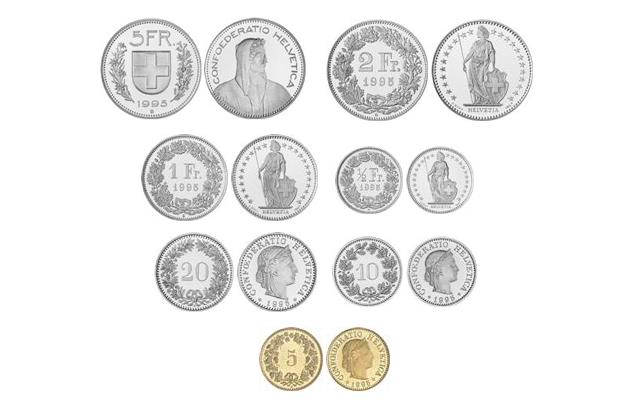 Imagen De Las Monedas Del Franco Suizo