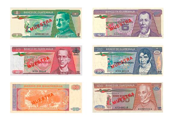 Imágenes De Los Billetes Del Quetzal