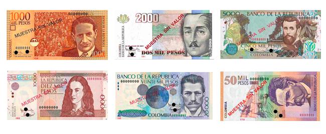 Billetes Del Peso Colombiano