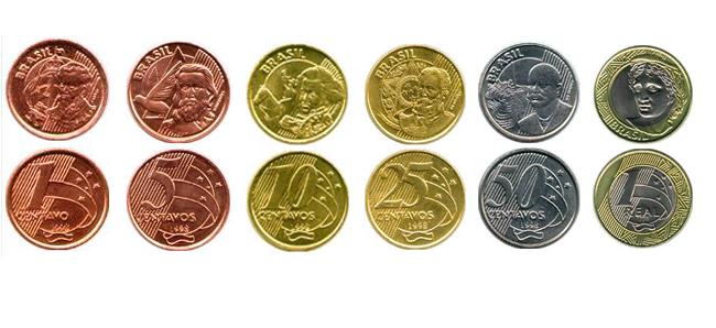 Imagen De Las Monedas Del Real Brasileño