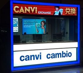 Currency Exchange branches at Barcelona-El Prat Airport